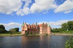 Castillo de Egeskov, Dinamarca Imagenes de archivo