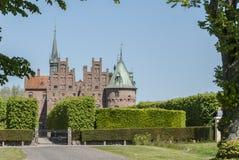 Castillo de Egeskov en Dinamarca imágenes de archivo libres de regalías