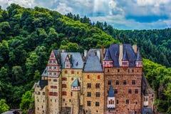 Castillo de Eltz en Renania-Palatinado, Alemania Foto de archivo libre de regalías