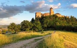 Castillo de Eslovaquia, Stara Lubovna imagen de archivo