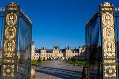 Castillo de Fontainebleau foto de archivo