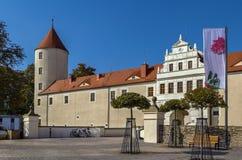 Castillo de Freudenstein, Freiberg, Sajonia, Alemania Fotografía de archivo
