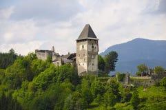 Castillo de Friesach, ruina, fortaleza, Carinthia fotografía de archivo