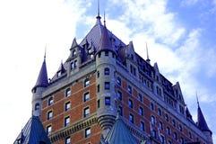 Castillo de Frontenac en la ciudad de Quebec fotos de archivo