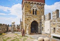 Castillo de Génova, Italia - de Albertis, opinión de la torre foto de archivo libre de regalías