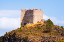 Castillo de Gaibiel on rock Stock Image