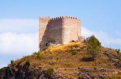 Castillo de Gaibiel on rock Stock Image