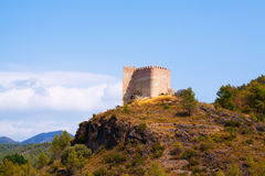 Castillo de Gaibiel on rock.  Valencian Community, Spain Royalty Free Stock Images