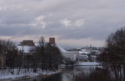 Castillo de Gediminas foto de archivo libre de regalías