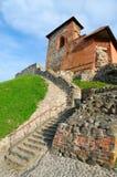 Castillo de Gediminas en Vilna. Lituania. Foto de archivo