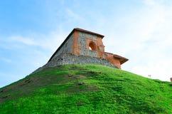 Castillo de Gediminas en Vilna. Lituania. Imagen de archivo