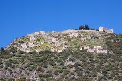 Castillo de Geraki Imagen de archivo libre de regalías