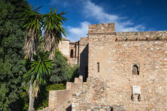 Castillo de Gibralfaro in Malaga Royalty Free Stock Photos