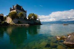 Castillo de Ginebra del lago en Yvoire Francia Foto de archivo