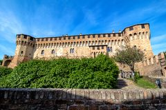 Castillo de Gradara en Italia foto de archivo libre de regalías
