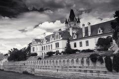 Castillo de Grafenegg en el distrito de Krems de una Austria más baja fotos de archivo libres de regalías