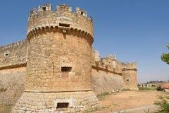 Castillo de Grajal de Campos, provincia de León, de Castilla y del magro, SP Foto de archivo