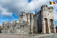 Castillo de Gravensteen, señor Fotografía de archivo