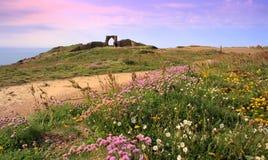 Castillo de Grosnez en Jersey C.I Fotografía de archivo libre de regalías