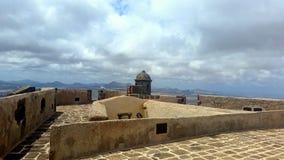 Castillo DE Guanapay als Kasteel van Guanapay, Kasteel van Teguise of Kasteel van Santa Barbara en San Ermenegild wordt bekend di royalty-vrije stock foto's