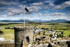 Castillo de Harlech, País de Gales del norte, Reino Unido Foto de archivo