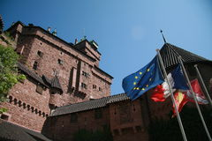 Castillo de Haut-Koenigsbourg Fotos de archivo libres de regalías