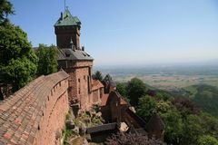 Castillo de Haut-Koenigsbourg Foto de archivo