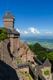 Castillo de Haut-Koenigsbourg Imagen de archivo libre de regalías