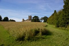 Castillo de Highclere, Inglaterra, filmando la ubicación para la abadía de Downton Fotos de archivo libres de regalías