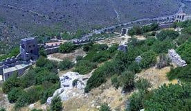 Castillo de Hilarion del santo, Kyrenia, Chipre Fotografía de archivo