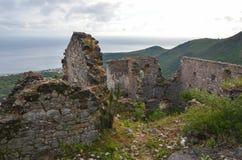 Castillo de Himara, Albania Imágenes de archivo libres de regalías