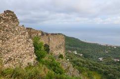 Castillo de Himara, Albania Imagen de archivo libre de regalías