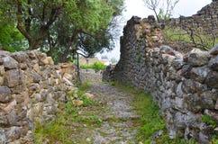 Castillo de Himara, Albania Imagen de archivo