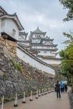 Castillo de Himeji en día lluvioso Foto de archivo