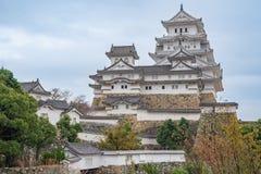 Castillo de Himeji en Japón, también llamado el castillo blanco de la garza Fotos de archivo