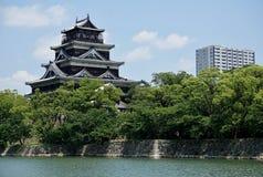 Castillo de Hiroshima en Hiroshima, Japón Foto de archivo libre de regalías