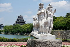 Castillo de Hiroshima en Hiroshima, Japón Foto de archivo