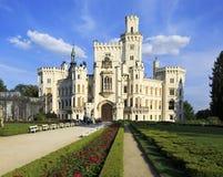 Castillo de Hluboka en República Checa fotografía de archivo