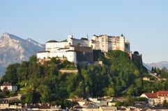 Castillo de Hohensalzburg Imagen de archivo libre de regalías