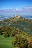 Castillo de Hohenzollern al principio del otoño Fotografía de archivo libre de regalías