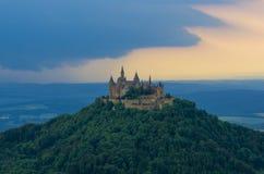 Castillo de Hohenzollern del Burg imagen de archivo