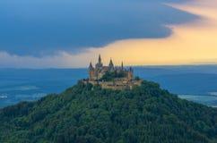 Castillo de Hohenzollern del Burg fotos de archivo