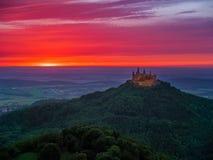 Castillo de Hohenzollern del Burg imagen de archivo libre de regalías