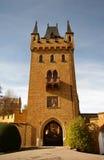 Castillo de Hohenzollern en suabio durante otoño Fotos de archivo