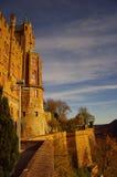 Castillo de Hohenzollern en suabio durante otoño Fotografía de archivo