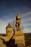 Castillo de Hohenzollern en suabio durante otoño Imagenes de archivo