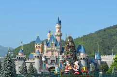 Castillo 2017 de Hong-Kong Disneyland Resort Fotografía de archivo libre de regalías