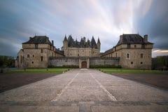 Castillo de Jumilhac-le-magnífico Imágenes de archivo libres de regalías
