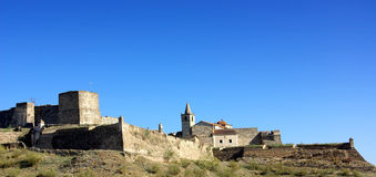 Castillo de Juromenha Foto de archivo libre de regalías