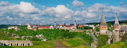 Castillo de Kamenets-Podolsky, Ucrania Fotos de archivo